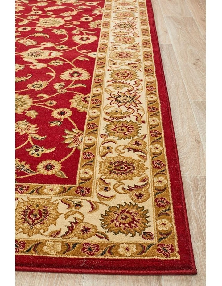 Sydney Collection Classic Rug Red with Ivory Border image 4