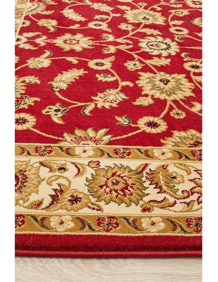Sydney Collection Classic Rug Red with Ivory Border image 5