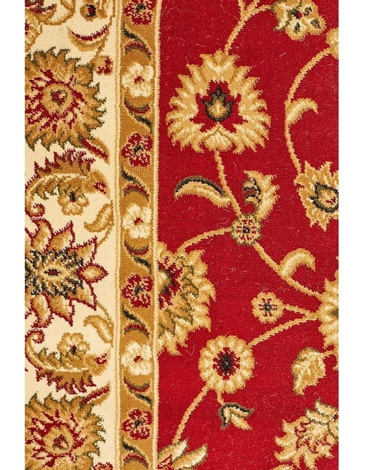 Sydney Collection Classic Rug Red with Ivory Border image 6