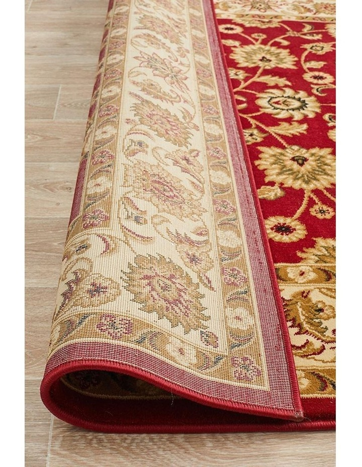 Sydney Collection Classic Rug Red with Ivory Border image 7