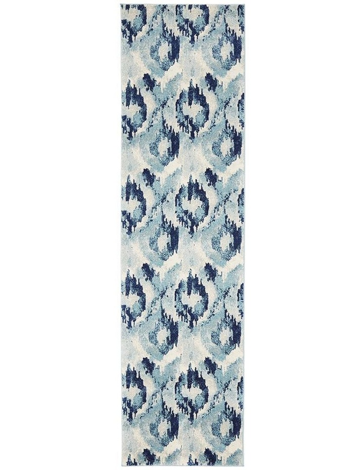Mirage Lesley Whimsical Blue Runner Rug image 1