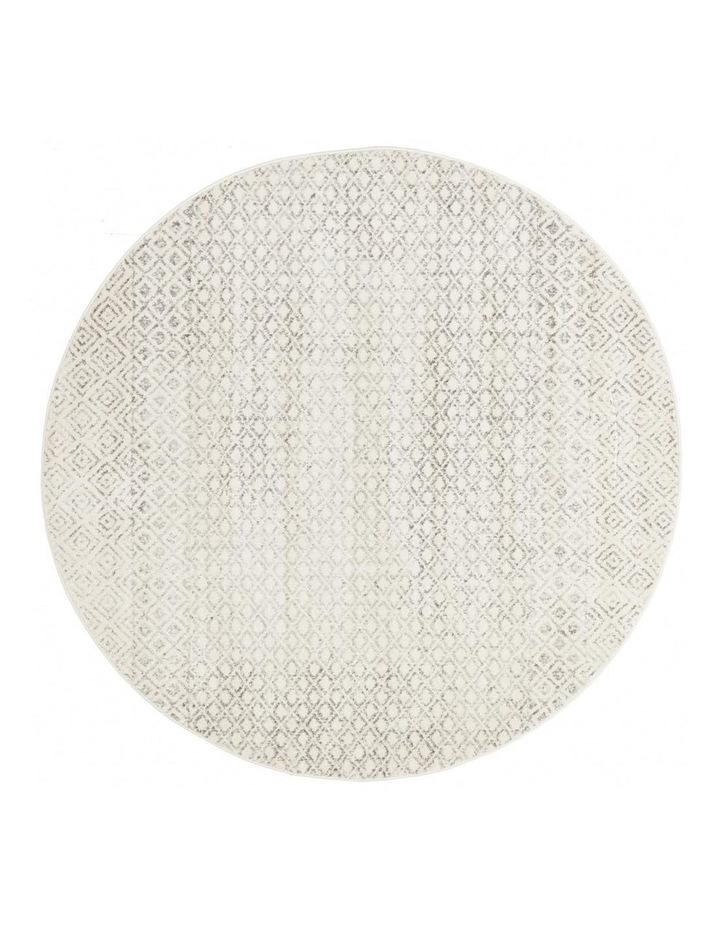 Evoke Diamond Grey Transitional Round Rug image 1