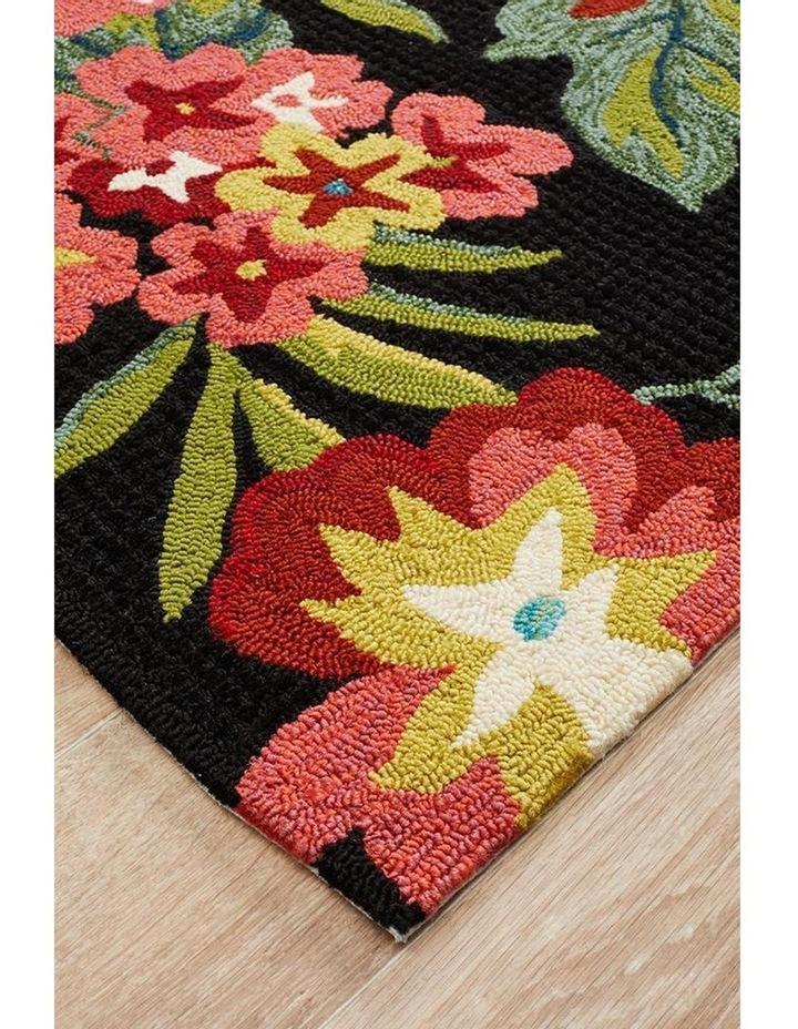 Copacabana Kelsey Bouquet Black Indoor Outdoor Rug image 2
