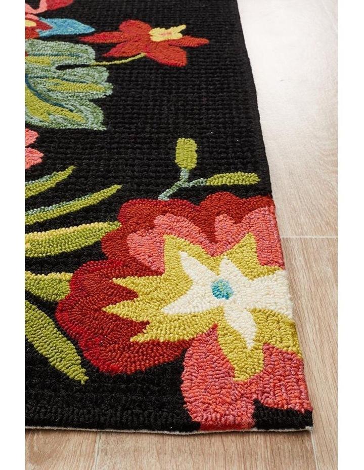 Copacabana Kelsey Bouquet Black Indoor Outdoor Rug image 3