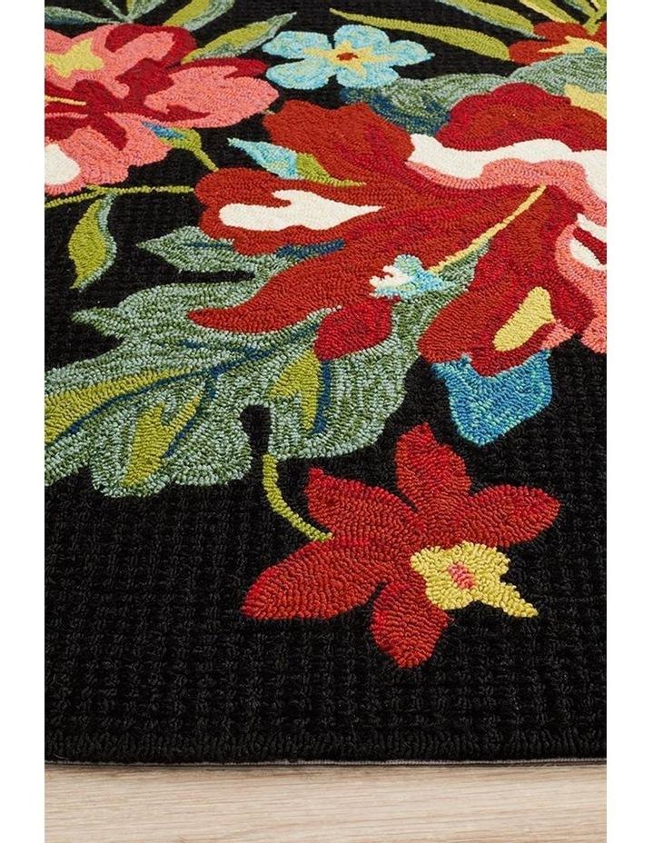 Copacabana Kelsey Bouquet Black Indoor Outdoor Rug image 4