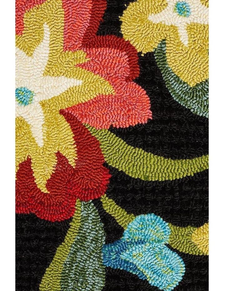 Copacabana Kelsey Bouquet Black Indoor Outdoor Rug image 5