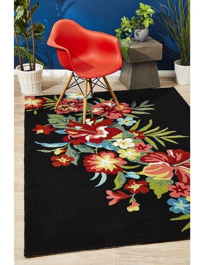 Copacabana Kelsey Bouquet Black Indoor Outdoor Rug image 7