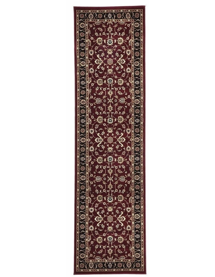 Sydney Collection Classic Rug Red with Black Border image 1