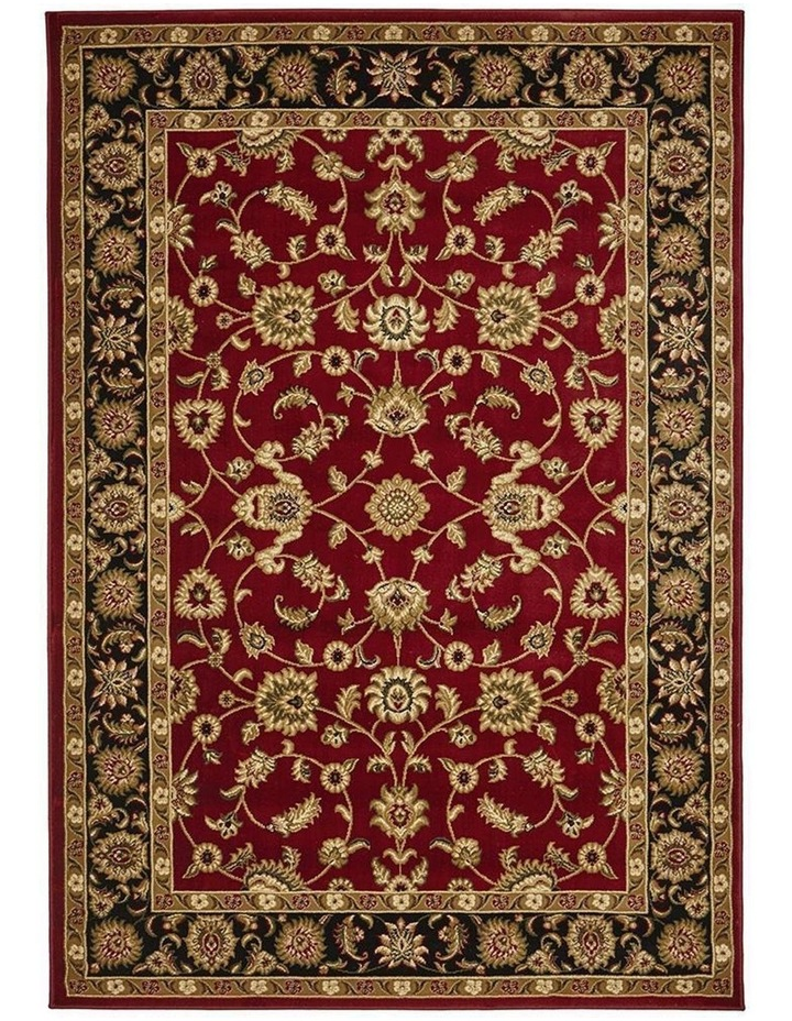 Sydney Collection Classic Rug Red with Black Border image 4