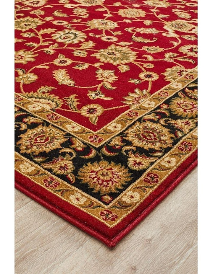 Sydney Collection Classic Rug Red with Black Border image 5