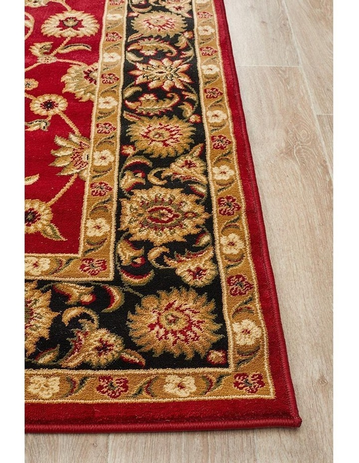 Sydney Collection Classic Rug Red with Black Border image 6
