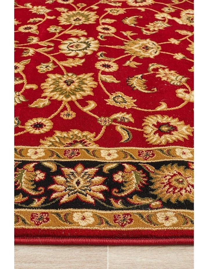 Sydney Collection Classic Rug Red with Black Border image 7