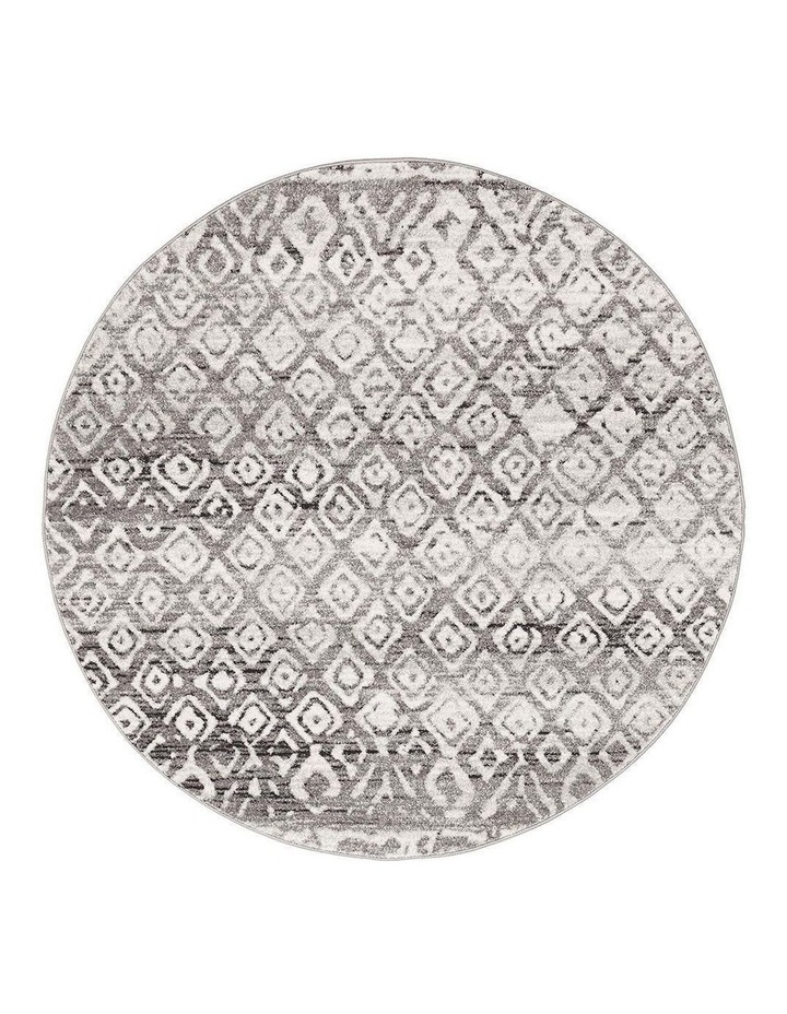 Oasis Zakira Dark Grey Tribal Round Rug image 1