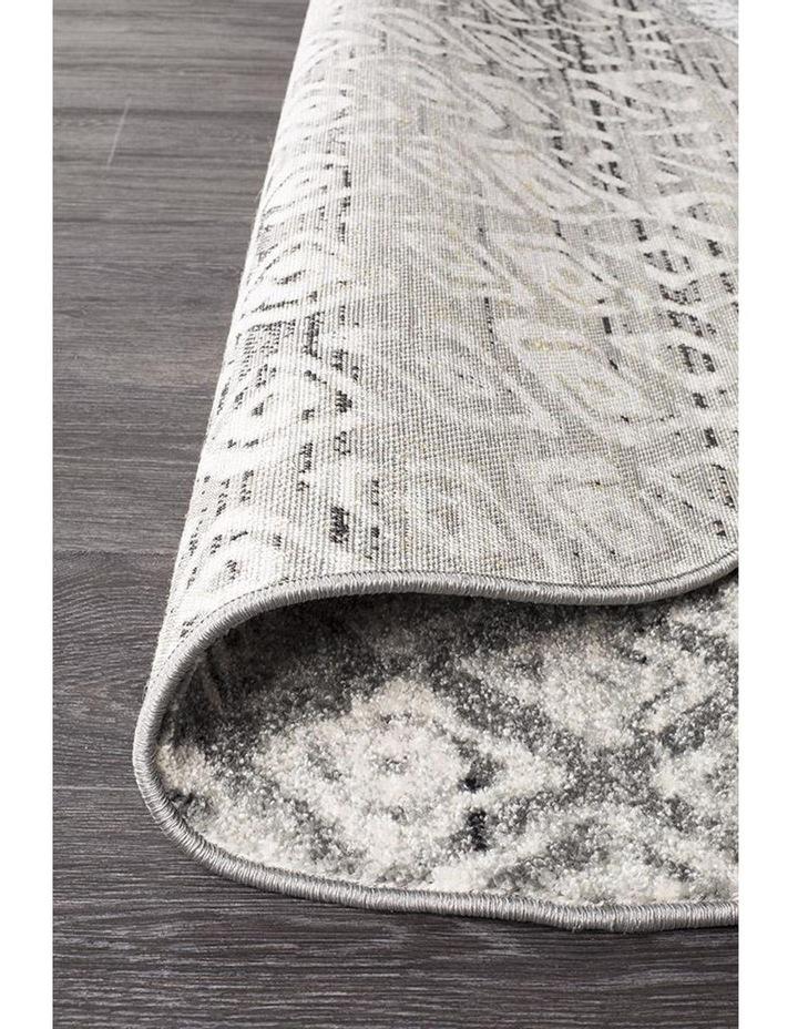 Oasis Zakira Dark Grey Tribal Round Rug image 4