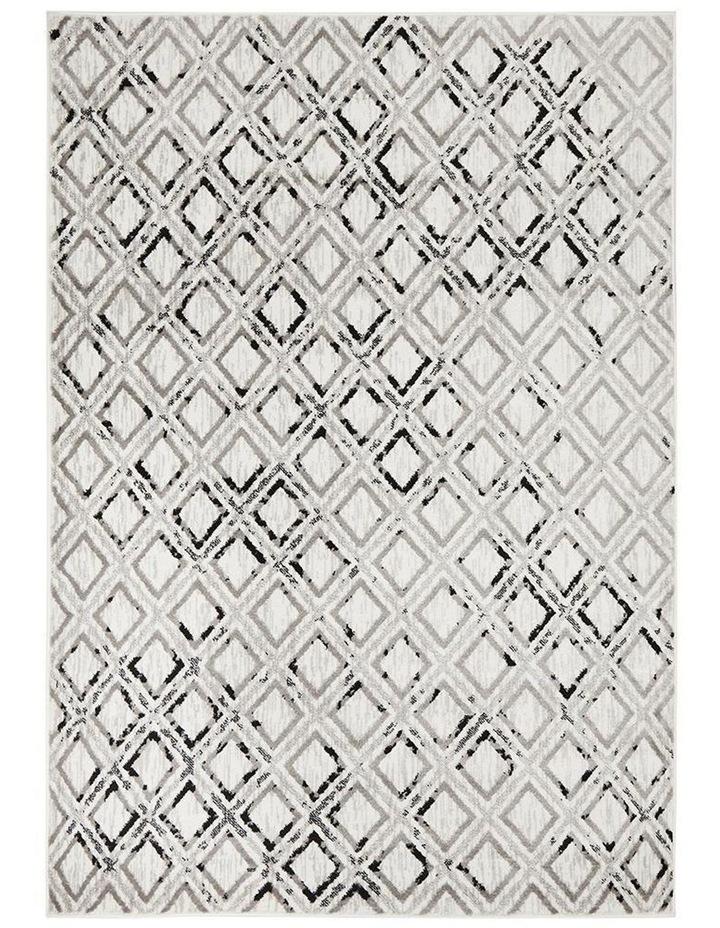 Jordyn Modern Rug White Black Grey image 1