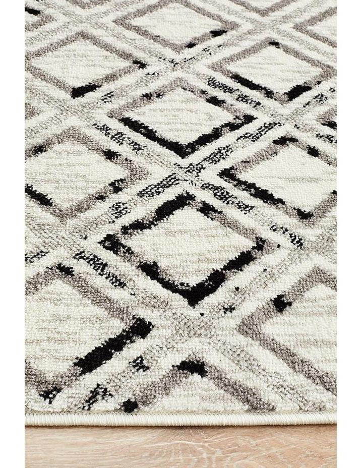 Jordyn Modern Rug White Black Grey image 4