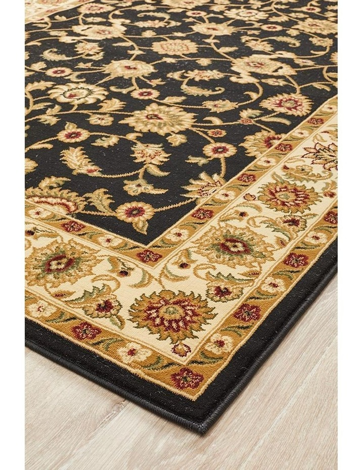 Sydney Collection Classic Rug Black with Ivory Border image 2