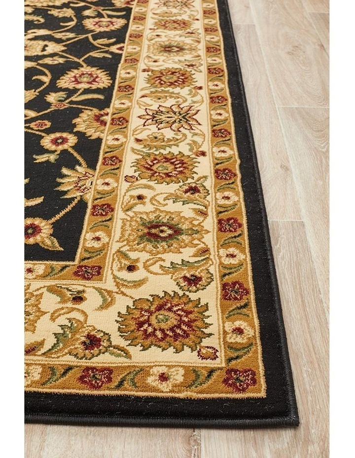 Sydney Collection Classic Rug Black with Ivory Border image 3