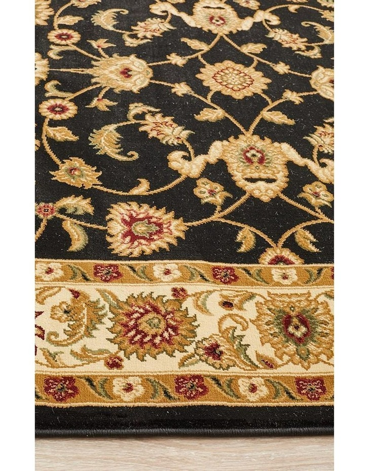 Sydney Collection Classic Rug Black with Ivory Border image 4