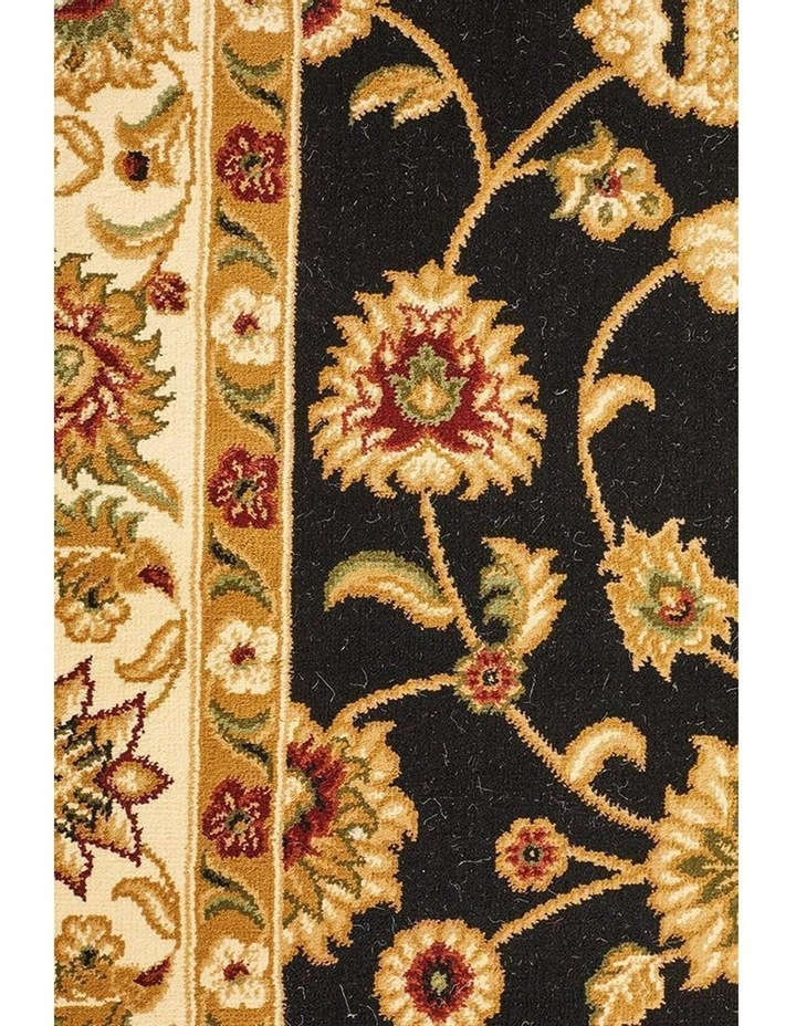Sydney Collection Classic Rug Black with Ivory Border image 5