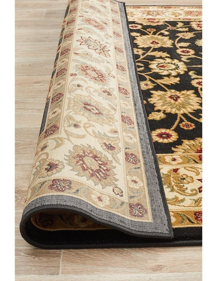 Sydney Collection Classic Rug Black with Ivory Border image 6