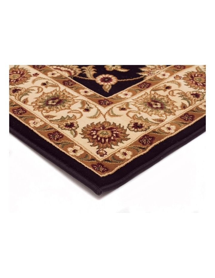 Sydney Collection Classic Rug Black with Ivory Border image 7