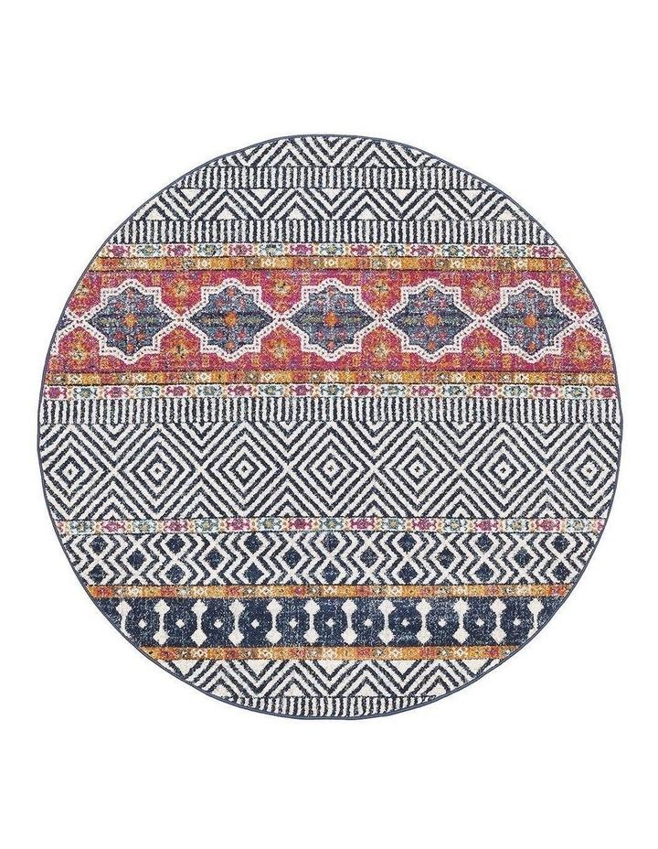 Oasis Sabrina Multi Tribal Round Rug image 1