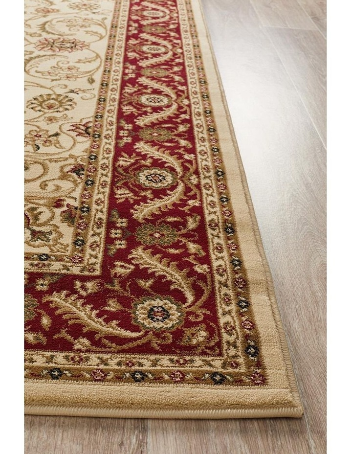 Sydney Collection Medallion Rug Ivory with Red Border image 4