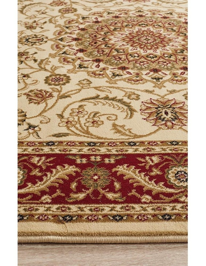 Sydney Collection Medallion Rug Ivory with Red Border image 5