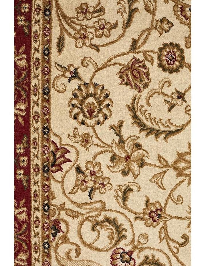 Sydney Collection Medallion Rug Ivory with Red Border image 6