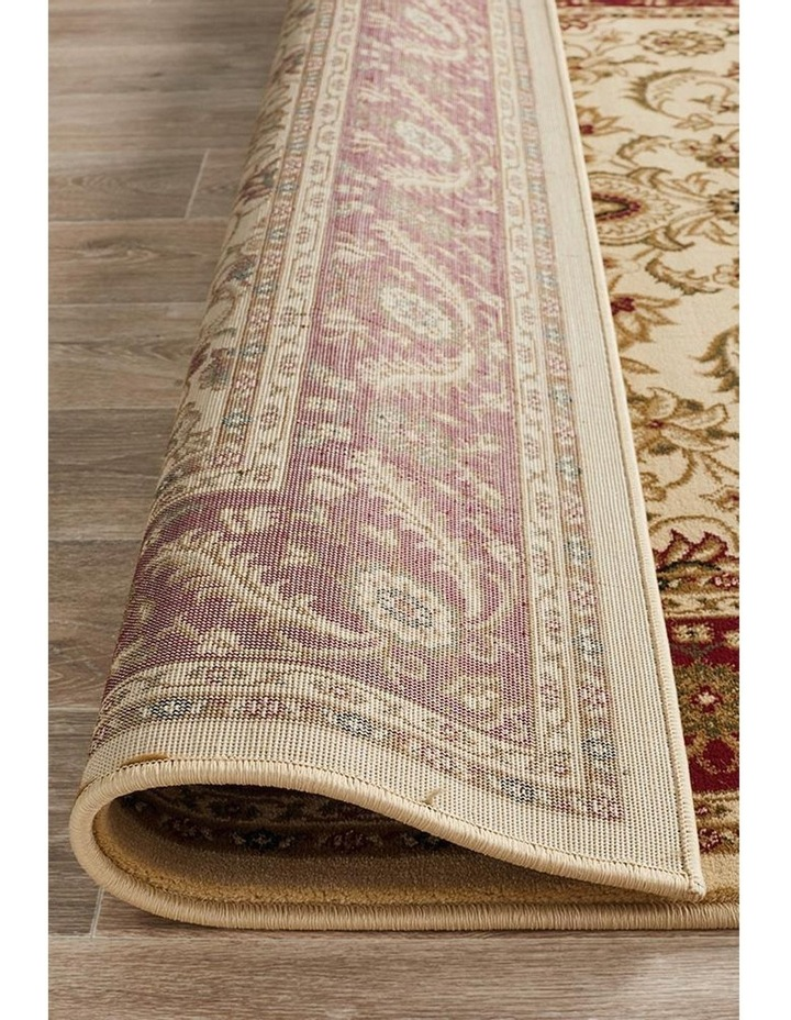 Sydney Collection Medallion Rug Ivory with Red Border image 7