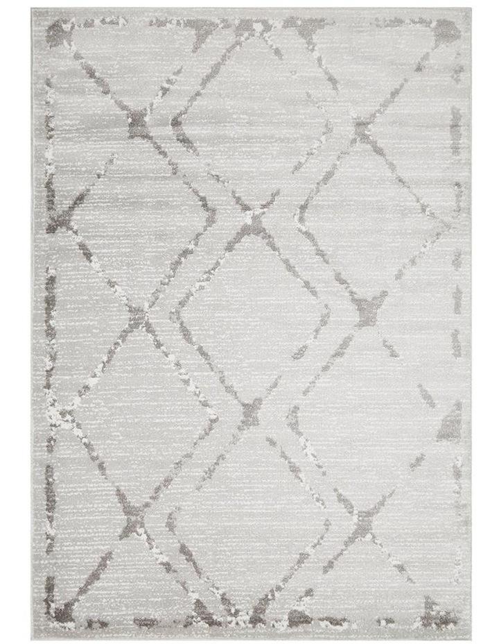 Kendall Contemporary Diamond Rug Silver Grey image 1
