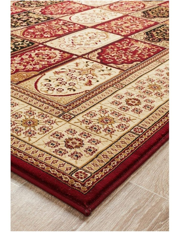Sydney Collection Traditional Panel Pattern Rug Burgundy image 3