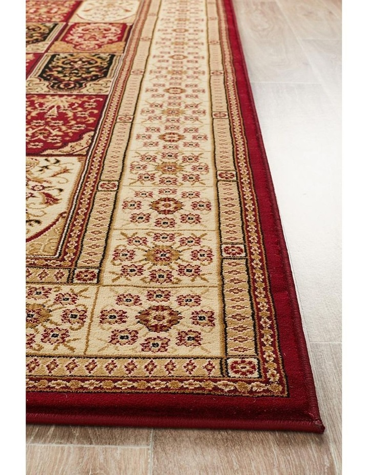 Sydney Collection Traditional Panel Pattern Rug Burgundy image 4