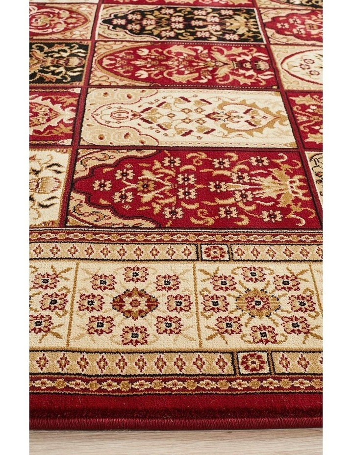 Sydney Collection Traditional Panel Pattern Rug Burgundy image 5