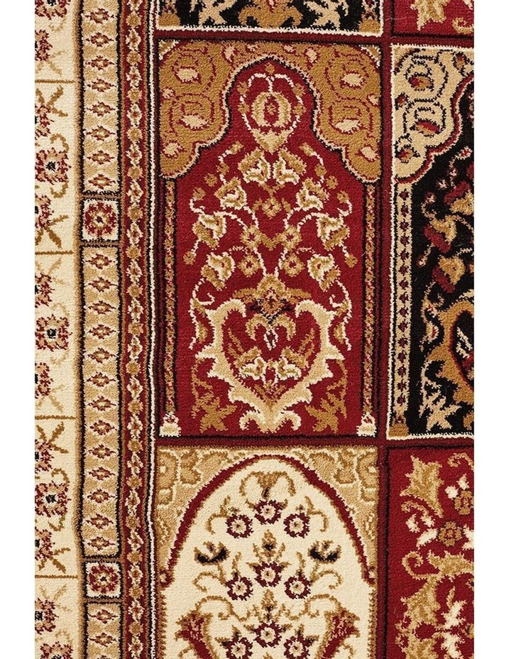 Sydney Collection Traditional Panel Pattern Rug Burgundy image 6