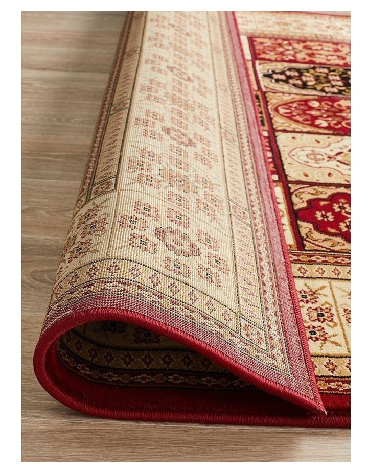 Sydney Collection Traditional Panel Pattern Rug Burgundy image 7