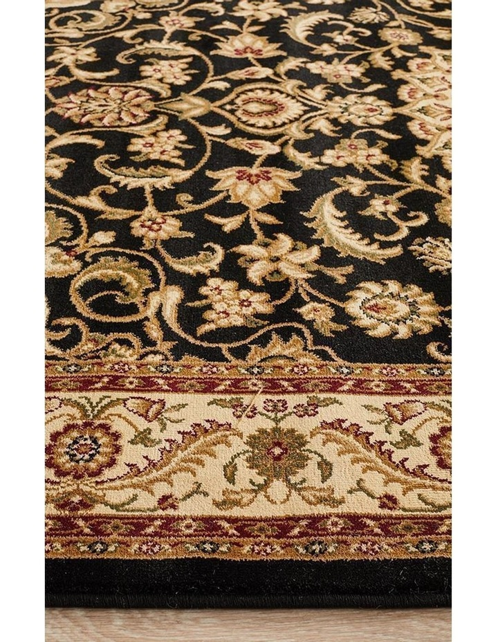 Sydney Collection Medallion Rug Black with Ivory Border image 5