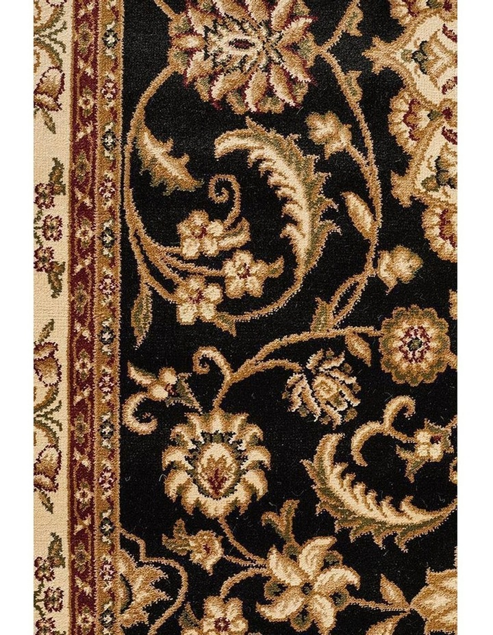 Sydney Collection Medallion Rug Black with Ivory Border image 6