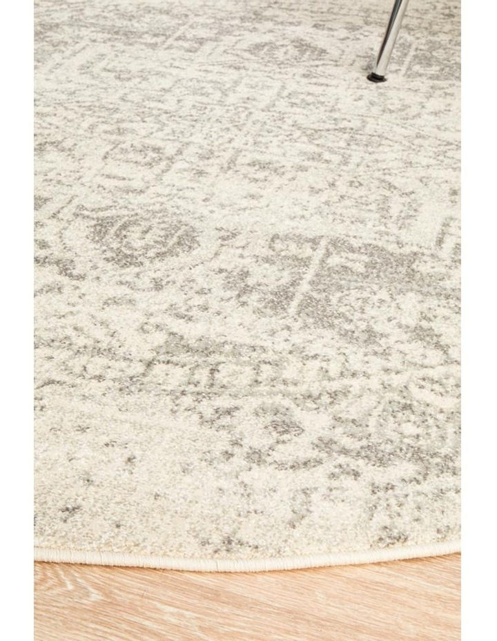 Evoke Dream White Silver Transitional Round Rug image 2