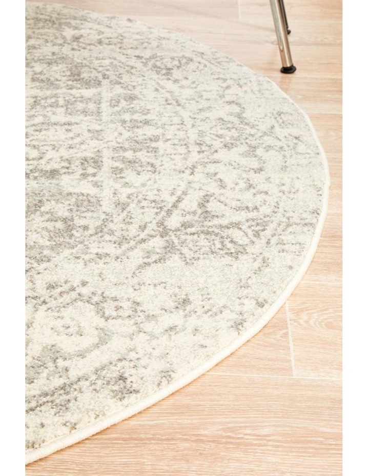 Evoke Dream White Silver Transitional Round Rug image 3