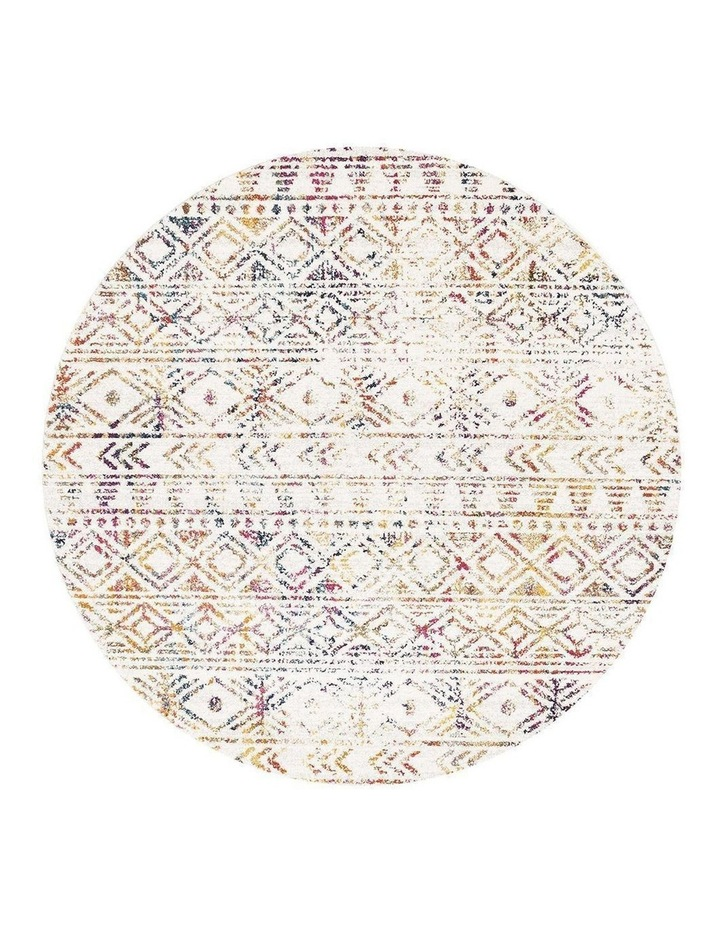 Oasis Ismail Multi Grey Rustic Round Rug image 1