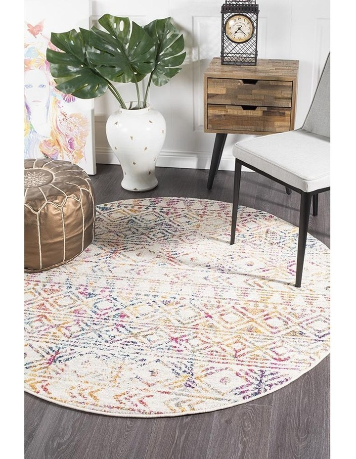 Oasis Ismail Multi Grey Rustic Round Rug image 5