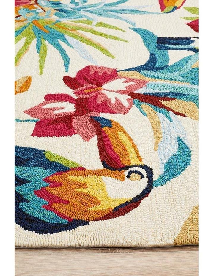 Copacabana Toucan Tropical Indoor Outdoor Rug Cream image 4