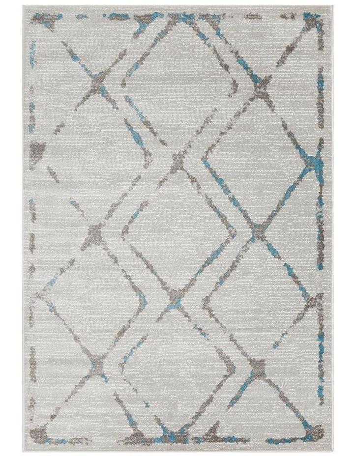 Kendall Contemporary Diamond Rug Grey Blue image 1