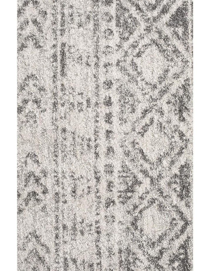 Oasis Ismail White Grey Rustic Round Rug image 3
