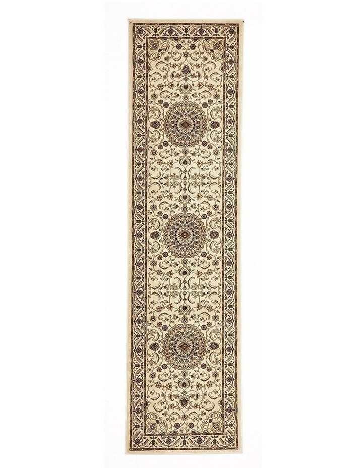 Sydney Collection Medallion Rug Ivory with Ivory Border image 1