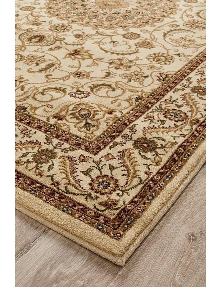 Sydney Collection Medallion Rug Ivory with Ivory Border image 3