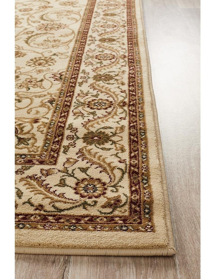 Sydney Collection Medallion Rug Ivory with Ivory Border image 4