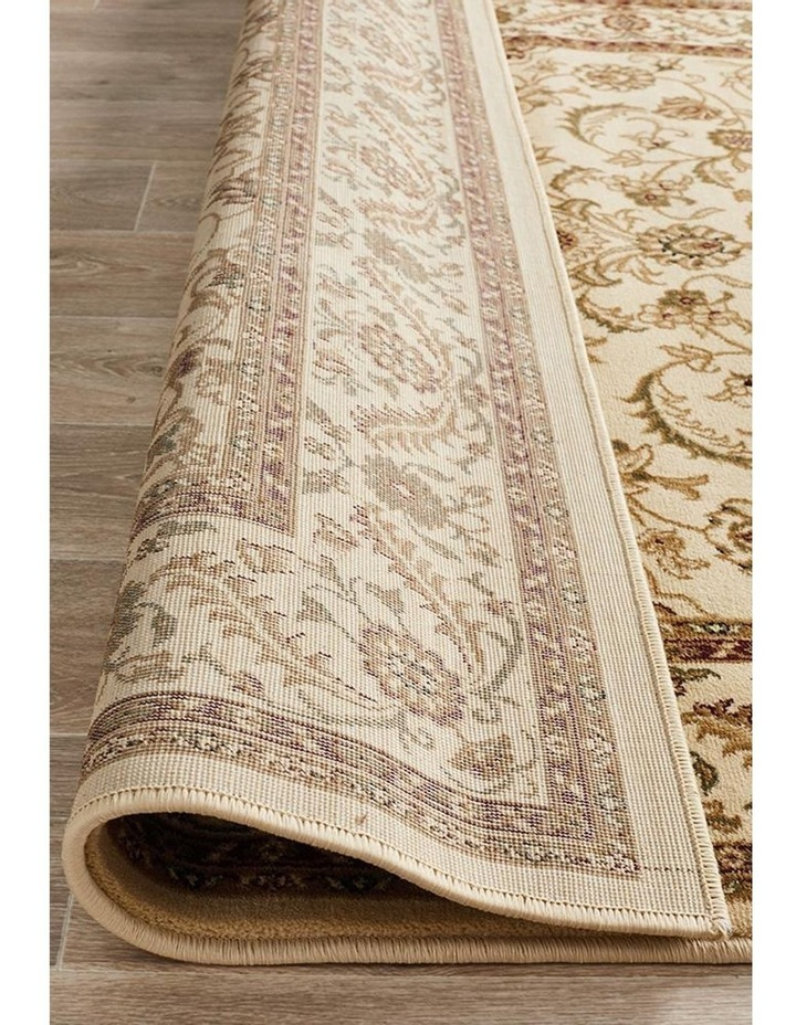 Sydney Collection Medallion Rug Ivory with Ivory Border image 7
